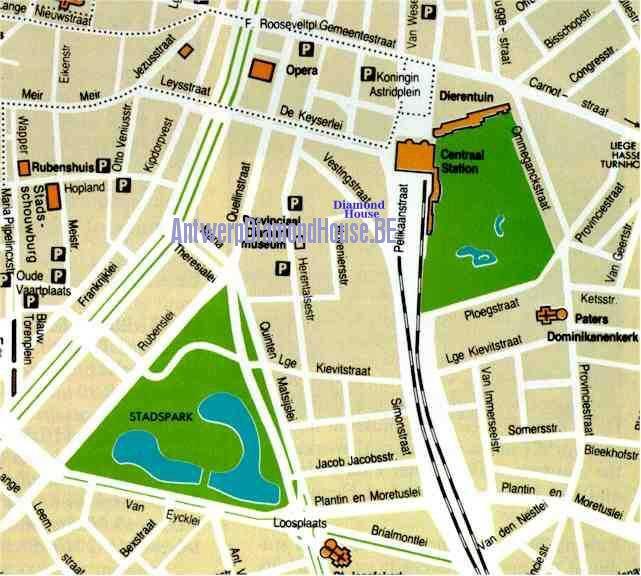 Antwerpen Stadtplan Die Diamantenstadt